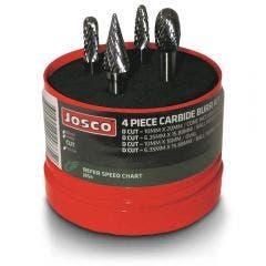JOSCO Carbide Burr Starter Kit - 4 Piece JBS4