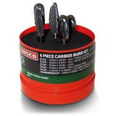 JOSCO Carbide Burr Kit - 6 Piece JBS6