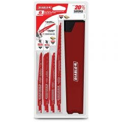 DIABLO Reciprocating Saw Blade Set for Wood & Metal Cutting - 6 Piece
