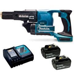 MAKITA 18V 2 x 3.0Ah Drywall Screwdriver Kit DFR450RFEX