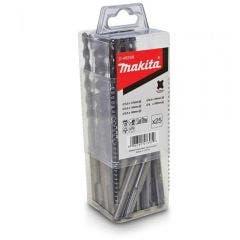MAKITA 5.5-8.0mm 2-Cutter SDS-Plus TCT Hammer Drill Bit Set - 25 Piece