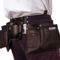 BUCKAROO Black Leather Apron Tool Belt TMABB