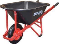 EASYMIX Trade 99L Poly Pneumatic Wide Wheelbarrow W300P-HSRWRS
