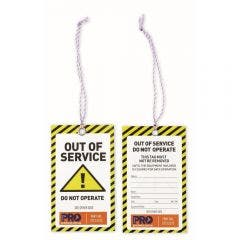 PROCHOICE Safety Tag Caution 100Pk