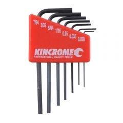 KINCROME Mini Hex Key Set Imperial - 7 Piece K5086