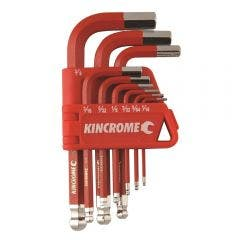 KINCROME Ball Joint Hex Key & Wrench Set Short - 9 Piece K5142