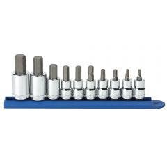 GEARWRENCH 10 pcs 3/8inch and 1/2inch Drive Metric Hex Bit Socket Set 80578