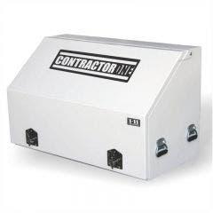 1-11 1210x640mm White Fully Welded Steel Truck Box with Full Door BKAT1210FD
