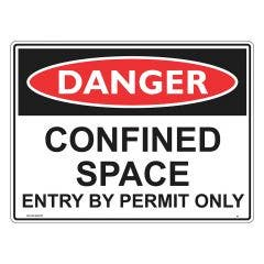 WILCOX SAFETY 300mm x 225mm Confined Space Entry by Permit Only Danger Sign D41CM