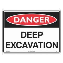 WILCOX SAFETY 450 x 600mm Deep Excavation Danger Sign - Corflute D46AF