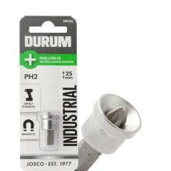 DURUM PH2 x 25mm Phillips Insert Plaster Screwdriver Bit