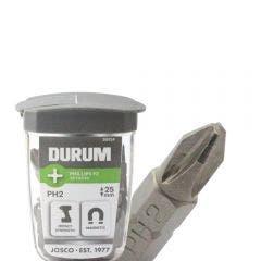 DURUM PH2 x 25mm Phillips Insert Screwdriver Bit w. Case - 30 Piece