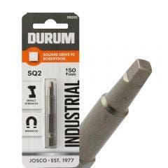 DURUM R2 x 50mm Robertson/Square Power Screwdriver Bit