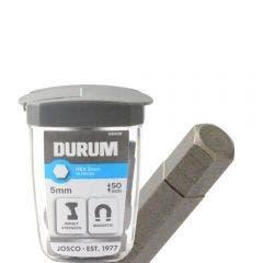 DURUM 5 x 50mm Internal Hex Power Screwdriver Bit w. Case - 15 Piece