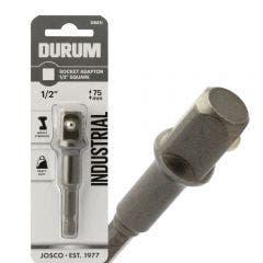 DURUM 1/4-Hex to 1/2-Drive Socket Adaptor Bit