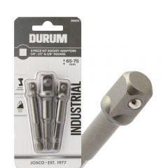 DURUM 1/4-Hex to Socket Drive Adaptor Bit Set - 3 Piece