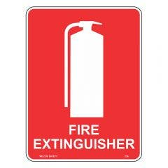 WILCOX SAFETY Fire Extinguisher Sign - Self-Stick Vinyl 5 Pack 100mm x 140mm F236JS
