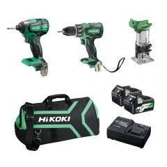 HiKOKI 18V MultiVolt Brushless 3 Piece 2 x 2.5/5.0Ah Combo Kit KC18D3M(HRZ)
