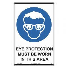 WILCOX SAFETY Eye Protection Must Be Worn In This Area Sign 300mm x 225mm