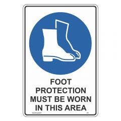 WILCOX SAFETY 300mm x 225mm Mandatory Foot Protect Must Be Worn Sign M378CP