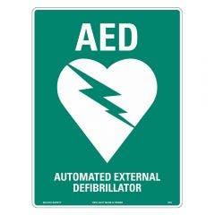 WILCOX SAFETY 300mm x 225mm AED Defibrillator Emergency Sign S670CP