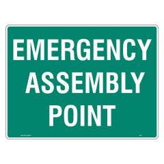 WILCOX SAFETY 600mm x 450mm Assembly Point Emergency Sign - Metal S674AM