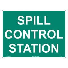 WILCOX SAFETY 450mm x 300mm Spill Control Station Emergency Sign S720BM