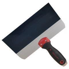 WALLBOARD Plastering Knife Taping 250mm Bluee Steel Blade Pro-Grip
