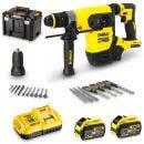DEWALT 54V Brushless 32mm 2x9.0Ah XR Flexvolt SDS-Plus Rotary Hammer Kit DCH417X2-XE