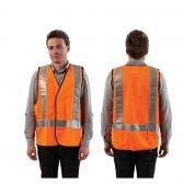 PROCHOICE Safety Vest Day/Night Reflective Hi-Vis Org VDNOS