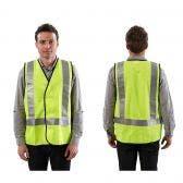 PROCHOICE Safety Vest Day/Night Reflective Hi-Vis Yel VDNYS