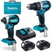 MAKITA 18V Brushless 2 Piece 2 x 3.0Ah Combo Kit DLX2180X