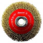 JOSCO 100mm Multi-Thread Tyre Cord Crimped Wire Bevel Brush