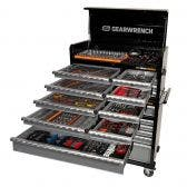 GEARWRENCH 528 Piece Tool Kit 11 Drawer 42 Inch Cabinet 8 Drawer Deep Chest 89920