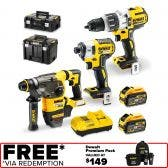 DEWALT 18/54V Brushless 3 Piece 2 x 9.0Ah Combo Kit DCZ333X2TXE