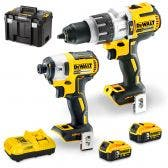 DEWALT 18V Brushless 2 Piece 2 x 5.0Ah Combo Kit DCK296P2T-XE