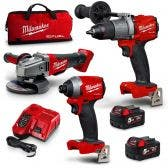 MILWAUKEE 18V 3 Piece 2 x 5.0Ah Combo Kit M18FPP3A2-502B