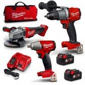 MILWAUKEE 18V Brushless 3 Piece 2 x 5.0Ah Combo Kit M18FPP3B2-502B