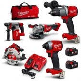 MILWAUKEE 18V Brushless 5 Piece 2 x 5.0Ah Combo Kit M18FPP5B2-502B