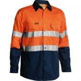 BISLEY 3M Taped Hi Vis Cool Long Sleeve Shirt Orn/Nvy BS6896SORNNVY