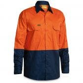 BISLEY Cool Liteweight Long Sleeve Shirt Orn/Nvy BS6895ORNNVY