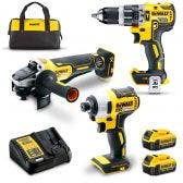 DEWALT 18V Brushless 3 Piece 2 x 4.0Ah Combo Kit DCZ311M2-XE