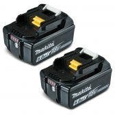 MAKITA 18V 6.0Ah Battery with Fuel Gauge Indicator Twin Pack 1984900