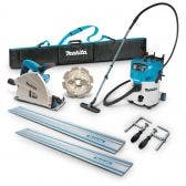 MAKITA 1300W 165mm Plunge Cut Circular Saw Kit and 30L Wet/Dry M Class Vacuum SP6000JT2X-VC30M