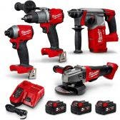MILWAUKEE 18V FUEL™ 4 Piece 3x5.0Ah Combo Kit M18FPP4A2-503B