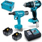 MAKITA 18V Brushless 2 Piece 2 x 5.0Ah Combo Kit DLX2367TJ