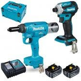 MAKITA 18V Brushless 2 Piece 2 x 5.0Ah Combo Kit DLX2365TJ