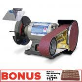 ITM 150mm Bench Grinder w/ 50x915mm Multitool Attachment