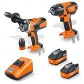 FEIN 18v Brushless 2 x 5.2Ah 2 Piece Combo Kit 69908010727