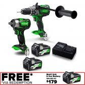 HiKOKI 36V Brushless 2 Piece 2 x 2.5Ah Combo Kit KC36DPL2HRZ KC36DPL2(HRZ)